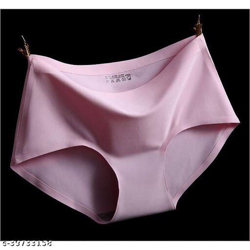 Women Seamless Pink Nylon Panty