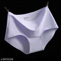 Women Seamless Purple Nylon Panty