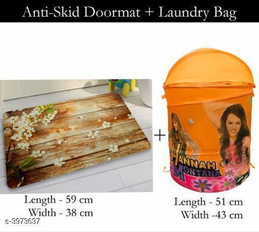 Laundry Aids Dream Home Trendy   Laundry Bags & Door Mat  *Material* Door - Velvet,  Laundry Bag - Polyester  *Size (L X W X H)* Door Mat - 59 cm X 38 cm,Laundry Bag  *Description* It Has 1 Piece Of  Door  Mat &  1 Piece Of   Laundry Bag  *Work* Printed  *Sizes Available* Free Size *    Catalog Name: Dream Home Trendy Laundry Bags & Door Mat CatalogID_560815 C131-SC1626 Code: 383-3973637-
