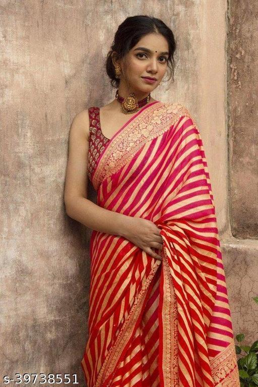 Beautiful Designer Jacquard weaving Banarasi Soft Litchi Silk Saree for Women