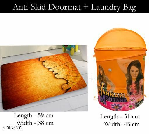 Laundry Aids Dream Home  Laundry Bags  & Door Mat  *Material* Door - Velvet,  Laundry Bag - Polyester  *Size (L X W X H)* Door Mat - 59 cm X 38 cm,Laundry Bag  *Description* It Has 1 Piece Of  Door  Mat &  1 Piece Of   Laundry Bag  *Work* Printed  *Sizes Available* Free Size *    Catalog Name: Dream Home Trendy Laundry Bags & Door Mat CatalogID_560894 C131-SC1626 Code: 383-3974130-