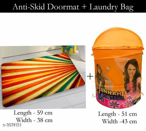 Laundry Aids Dream Home  Laundry Bags  & Door Mat  *Material* Door - Velvet,  Laundry Bag - Polyester  *Size (L X W X H)* Door Mat - 59 cm X 38 cm,Laundry Bag  *Description* It Has 1 Piece Of  Door  Mat &  1 Piece Of   Laundry Bag  *Work* Printed  *Sizes Available* Free Size *    Catalog Name: Dream Home Trendy Laundry Bags & Door Mat CatalogID_560894 C131-SC1626 Code: 383-3974131-