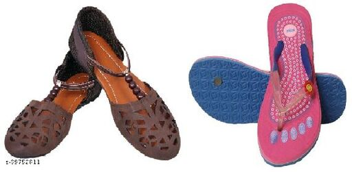 New fashion, Trendy Flats for Women & girls(Pack of 2)
