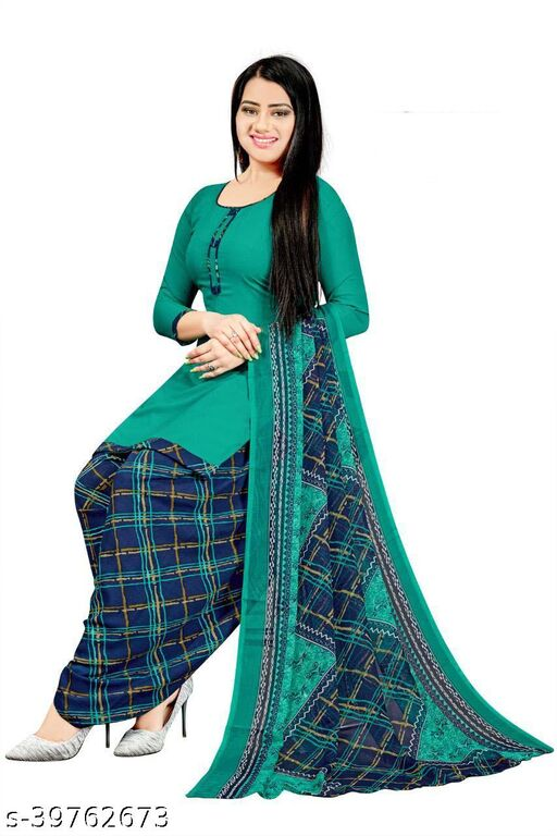 Dutt Textiles Printed Crepe Unstitched Salwar Suit/Kameez Dress Material For Womens & Girls All For Occation