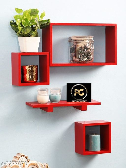 Trendy Wooden Floating Wall Shelf Combo