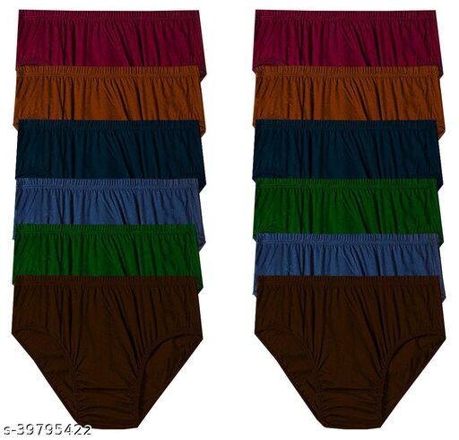 Women Bikini Multicolor Cotton Panty (Pack of 12)