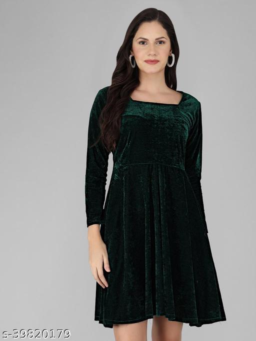 Women Black Full Sleeve Black Dress