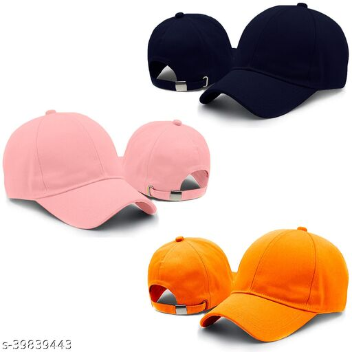 Latest Pack of 3 multicolor adjustable baseball summer sports cap combo for men and women