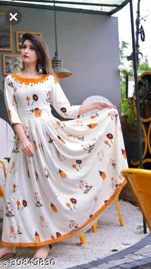 Trendy anarkali women's beautiful gowns