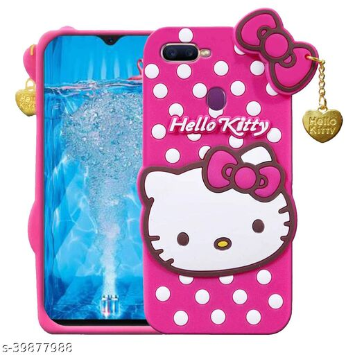 Q_B_S Hello Kitty-Back cover for-OPPO F9 Pro (3D case, Pink)