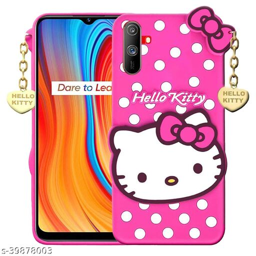 Q_B_S Hello Kitty-Back cover for-Realme C3 (3D case, Pink)
