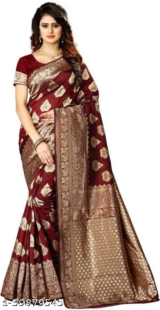 new trandy kanjeevaram silk fancy saree with blouse