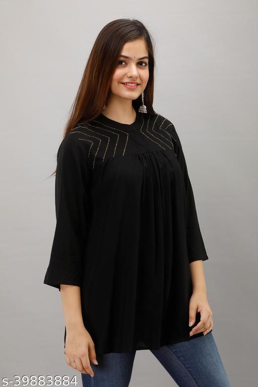 Le Fhirangi Womens Rayon short top