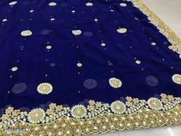 Charvi Fabulous Saree With Acording Beautifuly Pearl/Diamond