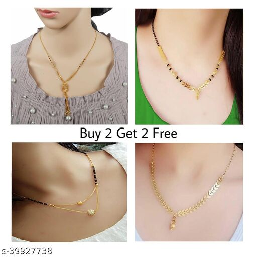 Heavy 1Gm Gold Plated 4 piece Combo Necklaces