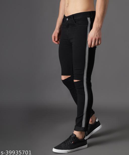 UNITED DENIM Men's Slim Fit Jeans (UD0031_Black)