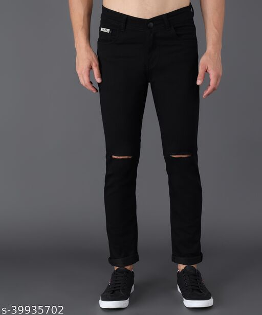 UNITED DENIM Men's Slim Fit Jeans (UD0027_Black)