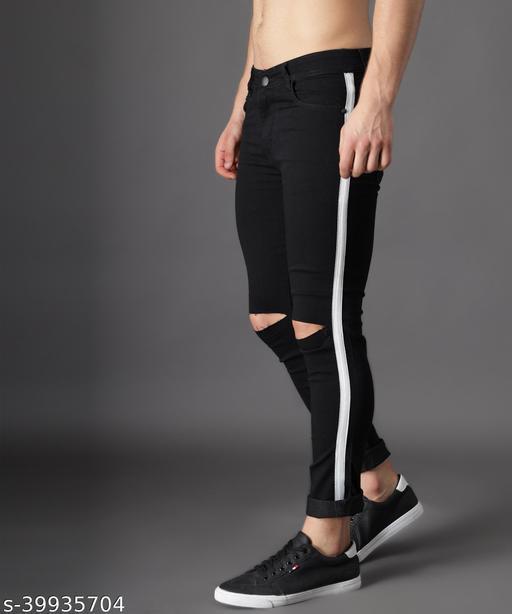 UNITED DENIM Men's Slim Fit Jeans (UD0032_Black)
