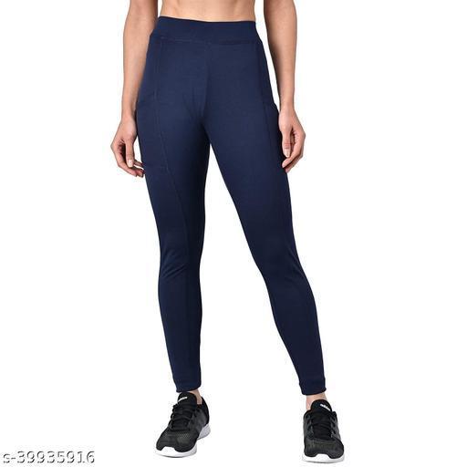 Solid Women Dark Blue Tights