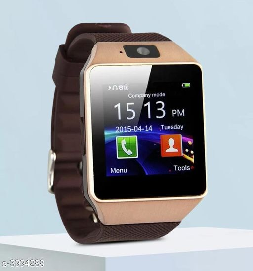 Smart watches Advanced Solid Smart Watch  *Product Type* Smart Watches  *Model * DzO9  *Material* Plastic & Rubber  *Size * Free Size  *Type * Bluetooth Water proof Smart fitness Band with Bluetooth or Heart Rate sensor, Activity Records, Sleep Monitor, Calorie Burned, Rejected Calling, Alarm, Blood Pressure, Message, USB Charging Supports Smartphones, Tablets and PC's & also Support Android and IOS  *LED * Yes  *Compatibility* Requires Android 4.3 or above, iOS 7.1 or above, Bluetooth 4.0 or above, download APP