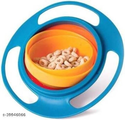 Magic Bowl Toy Bowl Dishes Kids Boy Girl Spill Proof Boxes (Multicolour , Pack of 1)