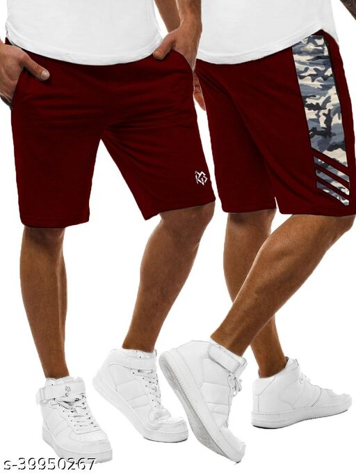 3COLOURS RGB MENS SHORTS -CAMOUFLAGE IN SIDE STRIPS