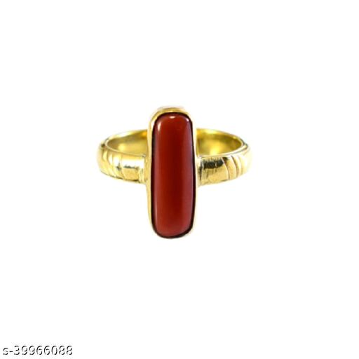 Moonga ring natural coral stone certified and fashionable for men and women