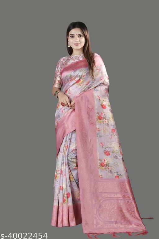 Pink Bridal Saree With Woven Pallu