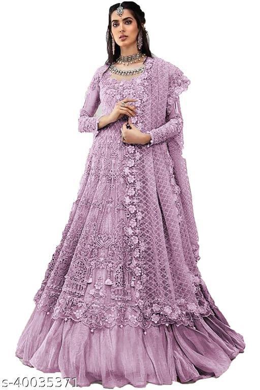 Shafnufab Designer Party Anarkali Salwar Semi-Stitched Suits