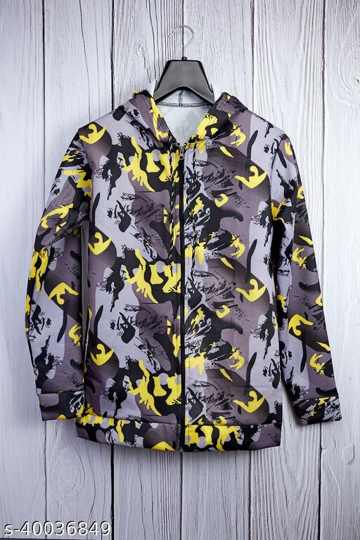 Army Print Jacket For Men