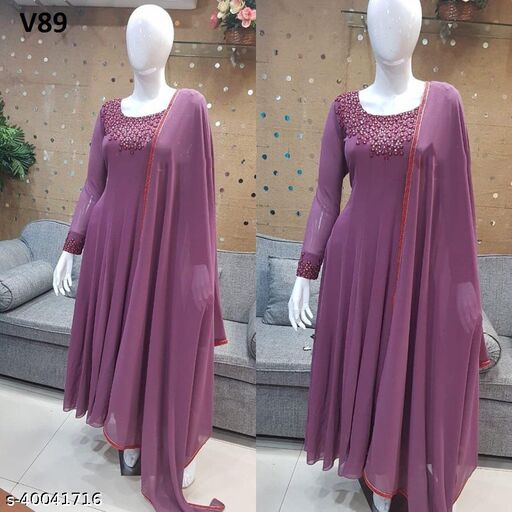 Floor Touch Woman Gown