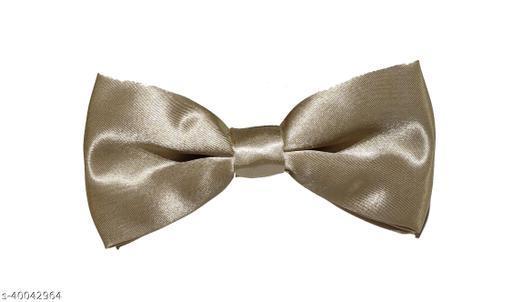 Vouge Cream Color Premium Satin Bowtie for Men 1 Piece