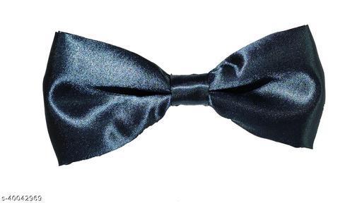 Vouge Dark Grey Color Premium Satin Bowtie for Men 1 Piece