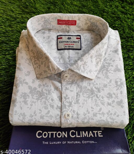 Mens pure  Linen Printed Shirts in premium Quality