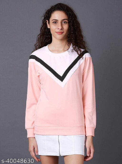 Cut-Sew Panelled Sweatshirt