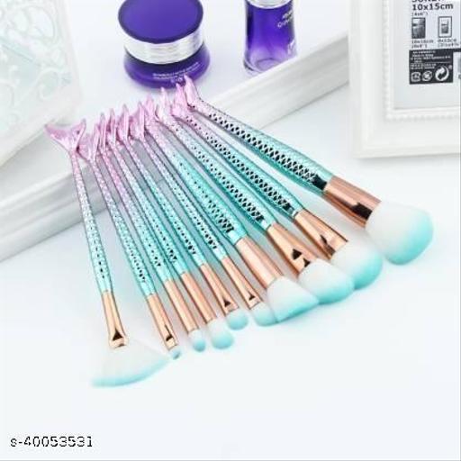 Fish makeup brushse set of 10