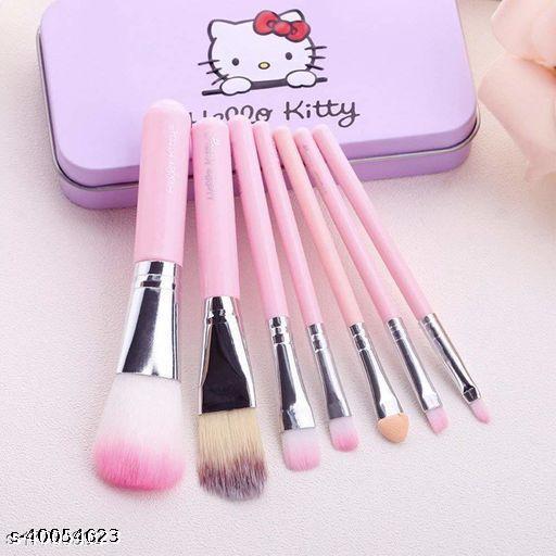 Pink kitty makeup brushes set of 7