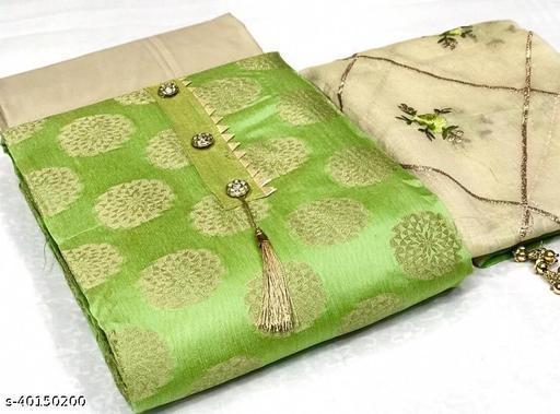 Banarasi Top Chanderi Dupatta Fabric {GOLA}