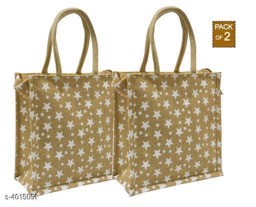 Stylish Women's Combo Brown Jute Handbag
