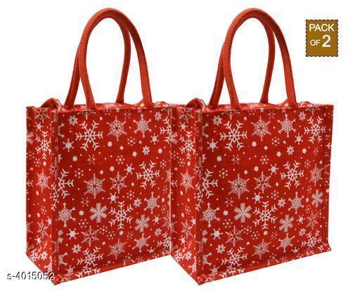 Attractive Women's Red Jute Handbag
