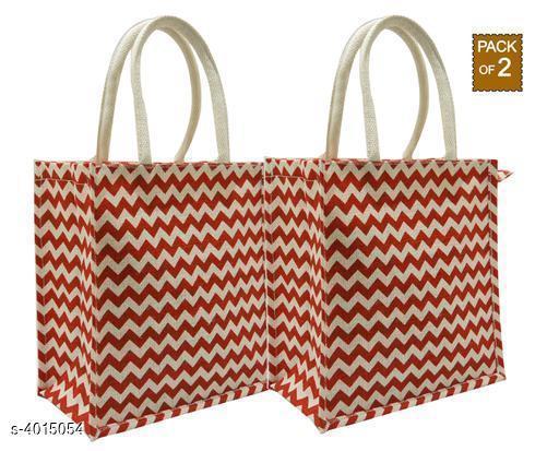 Attractive Women's Combo Set Red Jute Handbag
