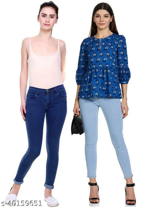 Fancy Retro Women Jeans