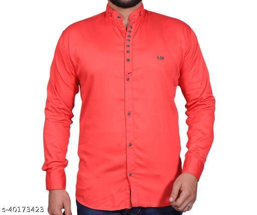 Boy's Designer Solid Shirt Full Sleeve Casual