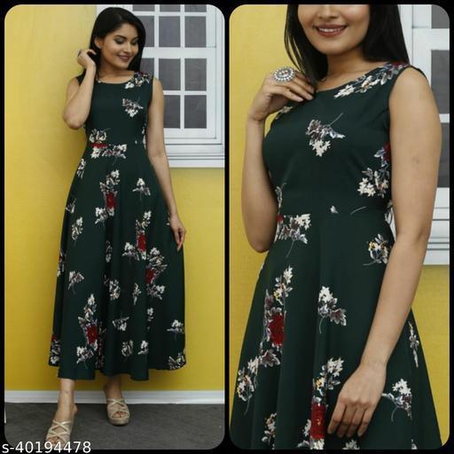 Women Black & Maroon Floral Print Maxi Dress