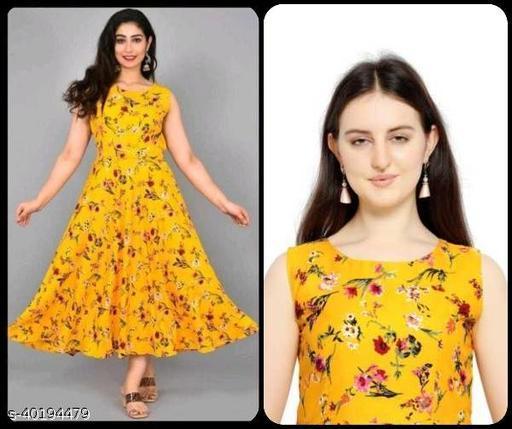 Women Mustard Yellow & Red Printed Maxi Dress