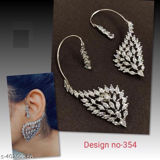 AD Studded Kan Chain Long Earring
