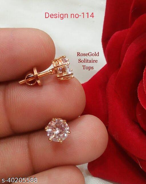 Rose Gold Solitaire Tops