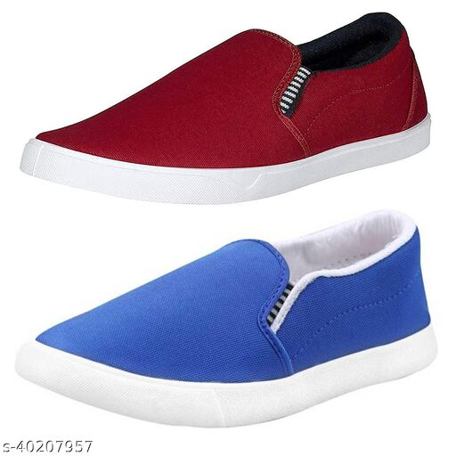 Canvas Casual Loafers For  Men. (Combo PO2)