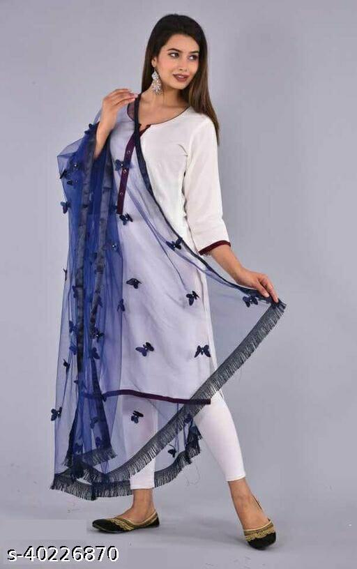 Beautiful Women's Net Butterfly Dupattas