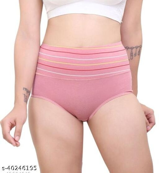 Women Hipster Pink Hosiery Panty